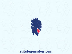 Abstract logo created with geometric shapes forming a warrior with pink and blue colors.