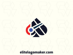 Ideal logo for different businesses in the shape of a woodpecker combined with a spade, with creative design and abstract style.
